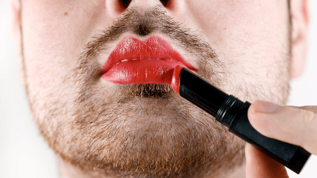 Here's why one dating app is asking men to wear red lipstick.