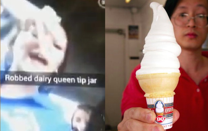 Hard serve: Teenage girls steal Dairy Queen tip jar, brag about it on Snapchat.