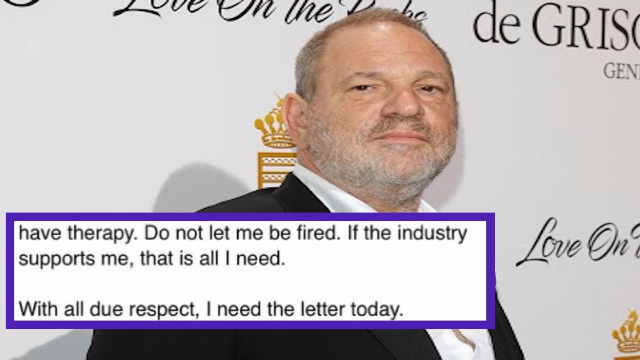 Harvey Weinstein reportedly sent out an email begging for his job. Then he was fired.