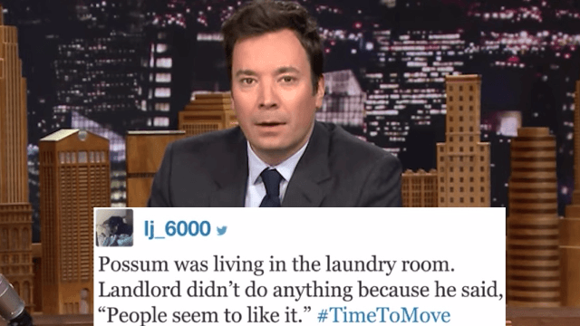 People with terrible living accommodations share their #TimeToMove moments with Jimmy Fallon.