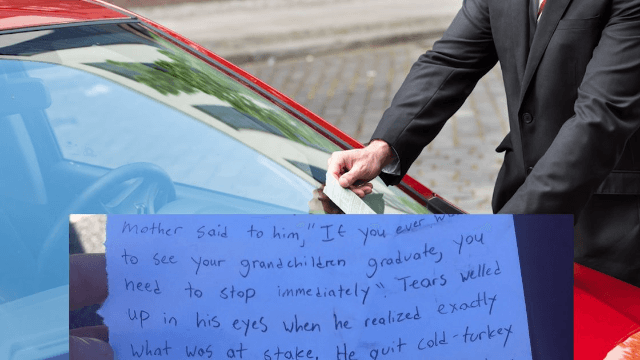 Absolutely heartbreaking note left to 'whoever owns this car.'