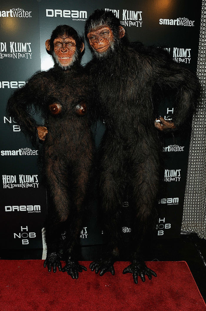 In 2011, Heidi and her ex-husband Seal went as apes.