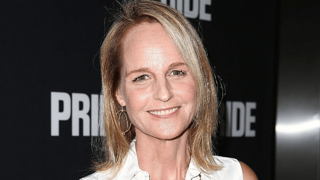 Starbucks barista winks at Helen Hunt before writing the completely wrong name on her cup.
