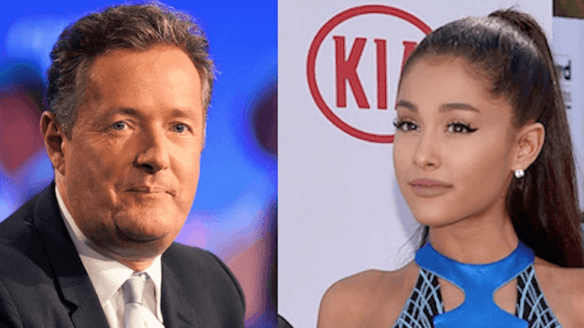 Hell freezes over as Piers Morgan apologizes for being a d*ck to Ariana Grande.