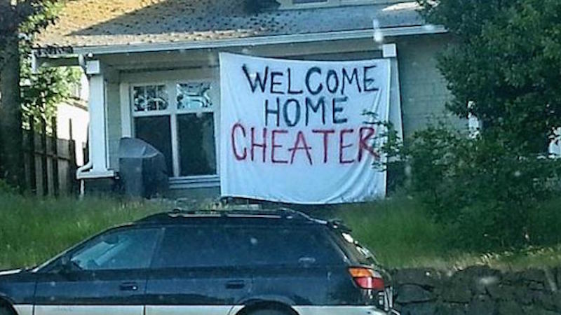 Here are the most creative public displays of revenge against a cheating significant other.