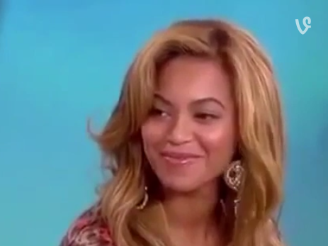 Here is Beyoncé accepting the ultimate compliment.