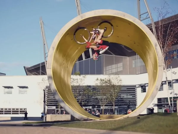 Here's a year's worth of crazy stunts jammed precariously into one three-minute video.