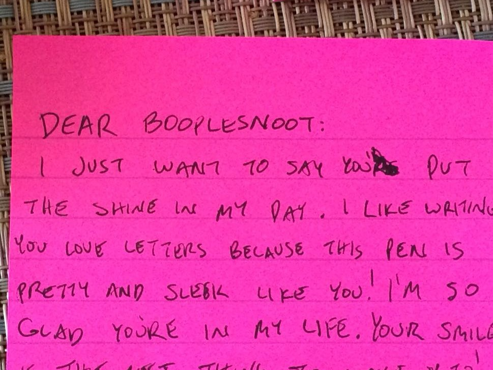Here's an adorably clever way to make a crude request of your loved one.