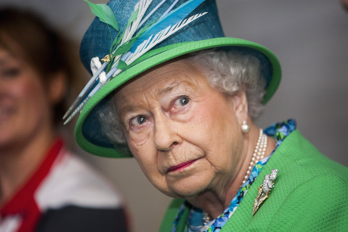 Even Queen Elizabeth has embarrassing childhood videos, except she's doing a Nazi salute in hers.