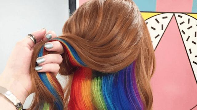 Hidden rainbow hair is cooler than regular, boring rainbow hair.