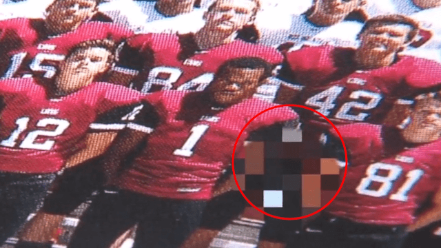 Football Player Almost Got Away With Exposing Himself In The Yearbook Because It Was Hard To See