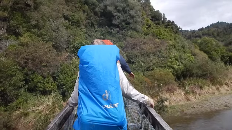 This horrifying video shows a bridge collapsing under some hikers in real-time.