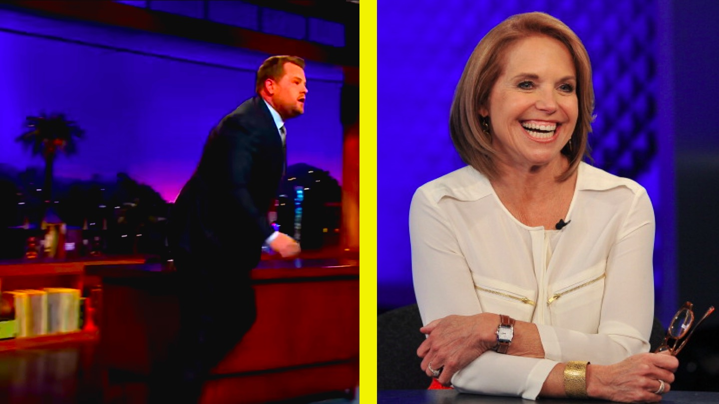 Hilariously cruel Katie Couric makes James Corden think she died on his show for April Fool's.
