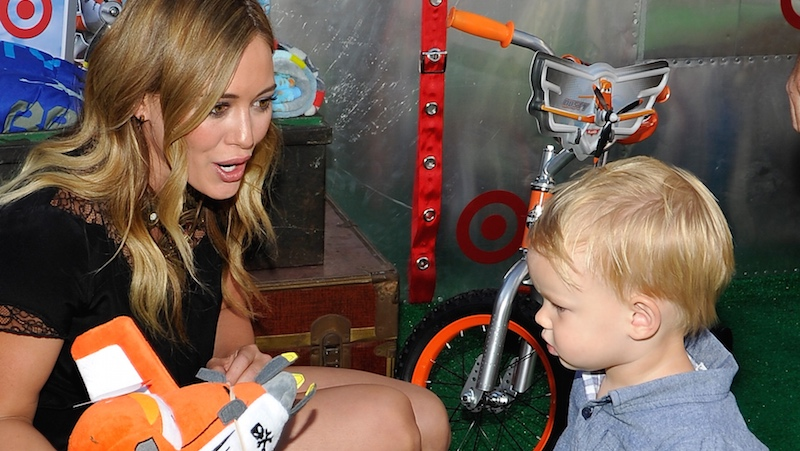 Hilary Duff responds to Instagram pervs who didn't approve of her PDA with her son.