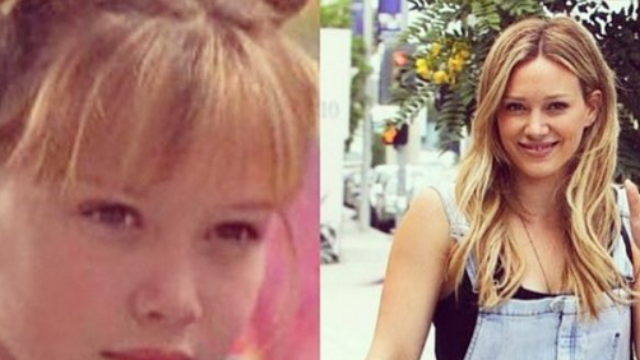 Hilary Duff dressed up like Lizzie McGuire in pic that may give you butterfly clip flashbacks.