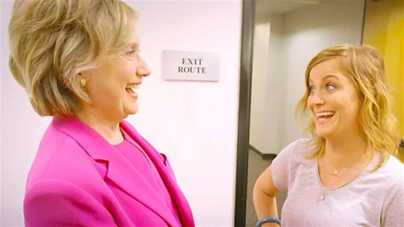 Amy Poehler and Hillary Clinton discuss the female president everyone wants: Leslie Knope.