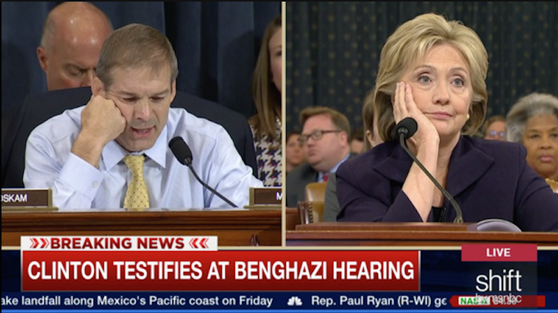 The Benghazi hearing was worth it for the reactions from Twitter and Hillary Clinton's face.