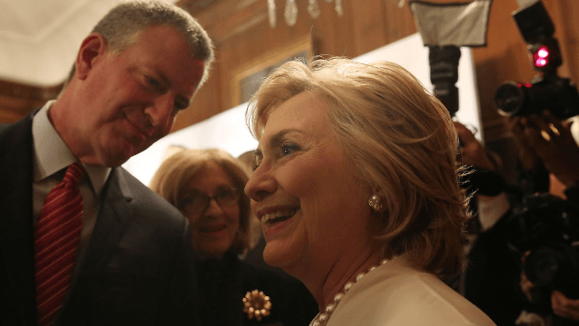 Oh dear, Hillary Clinton and Bill de Blasio made a racial joke together. Twitter freaked.
