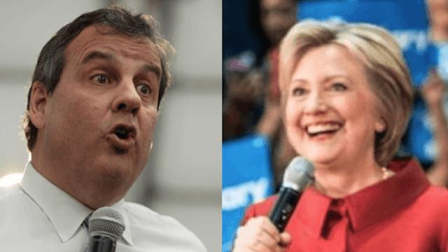 Hillary Clinton pulls a Kim Kardashian and outs Chris Christie as a liar on Snapchat.
