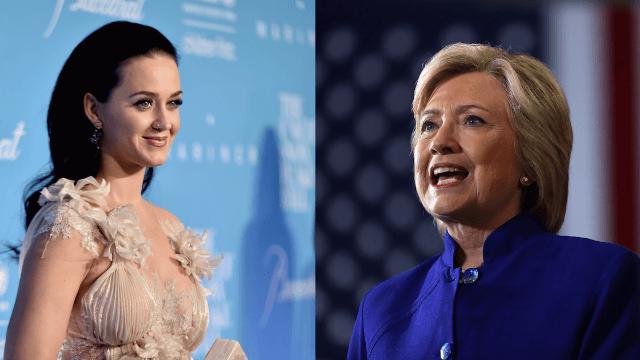 Hillary Clinton's kind words made Katy Perry cry tears of friendship.