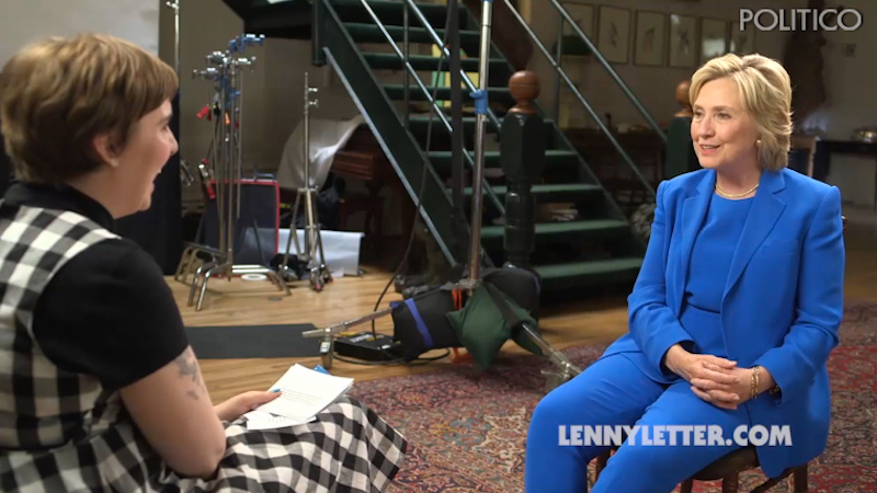 Hillary Clinton gets interviewed by Lena Dunham, tries to seem like less of a Marnie.