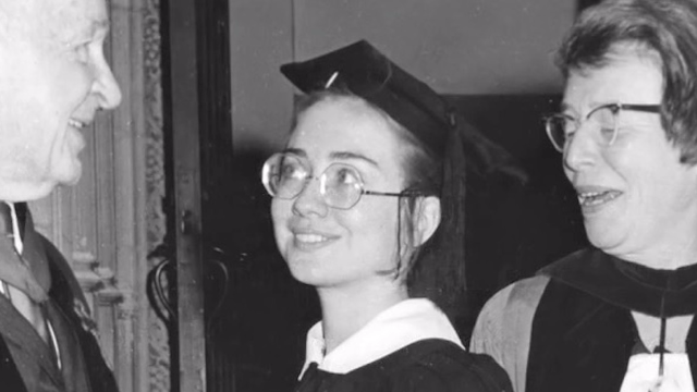 Hillary Clinton practiced being president during her own 1969 graduation commencement speech from Wellesley College.