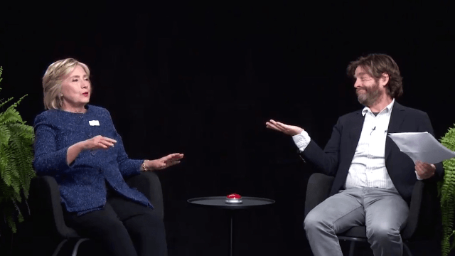 Hillary Clinton does 'Between Two Ferns' with Zach Galifianakis, immediately 'regrets doing this.'