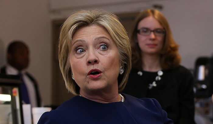 "Clinton making her ""What did I do now?"" face."