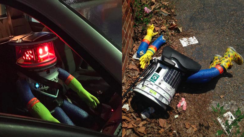 Droid that relied on human kindness to hitchhike Europe & Canada promptly murdered in Philly.