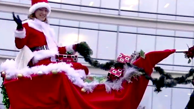 This holiday video card accidentally shows what Christmas will look like when the robots take over.