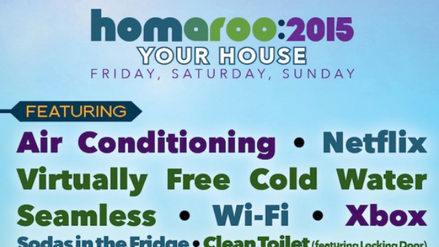 The lineup for Homaroo 2015 has just been announced.