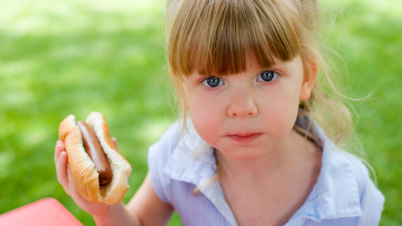New study shows that some brands of hot dogs contain human DNA. Enjoy!