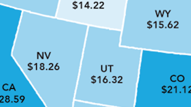Here's the hourly wage you'd need to afford a 2-bedroom rental in every state in 2016.
