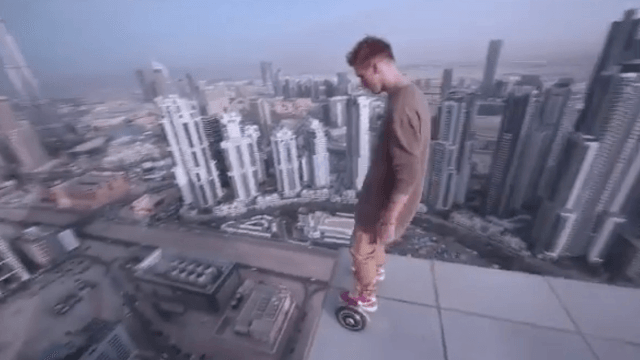 Is Hoverboarding On The Ledge Of A Skyscraper New Teen Trend