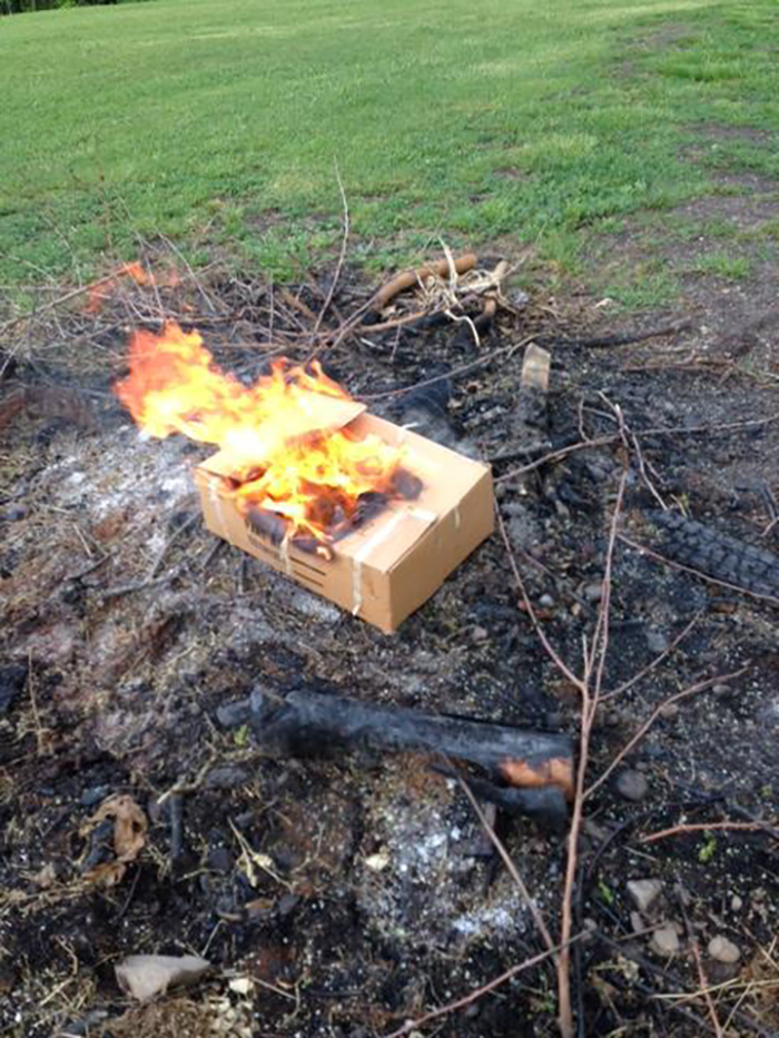 Hero grandson preserves grandfather's memory by burning his most prized possessions.