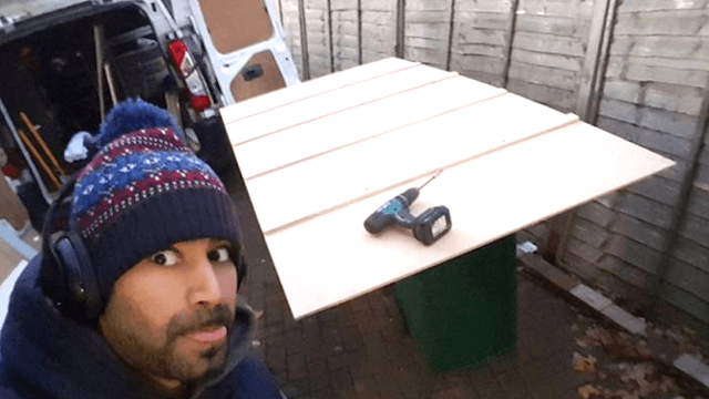 Husband of the year makes huge advent calendar with a gift behind every door.
