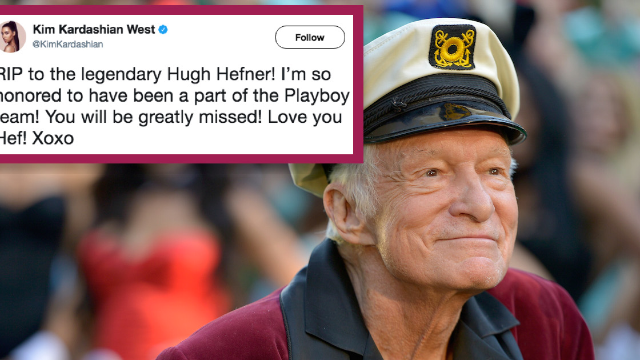 Celebrities mourn the death of Playboy's Hugh Hefner at the age of 91.