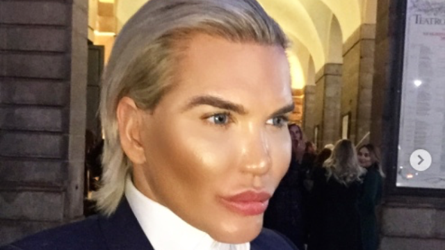 'Human Ken doll'  got stopped by TSA because he didn't look like his photo. Mission accomplished!