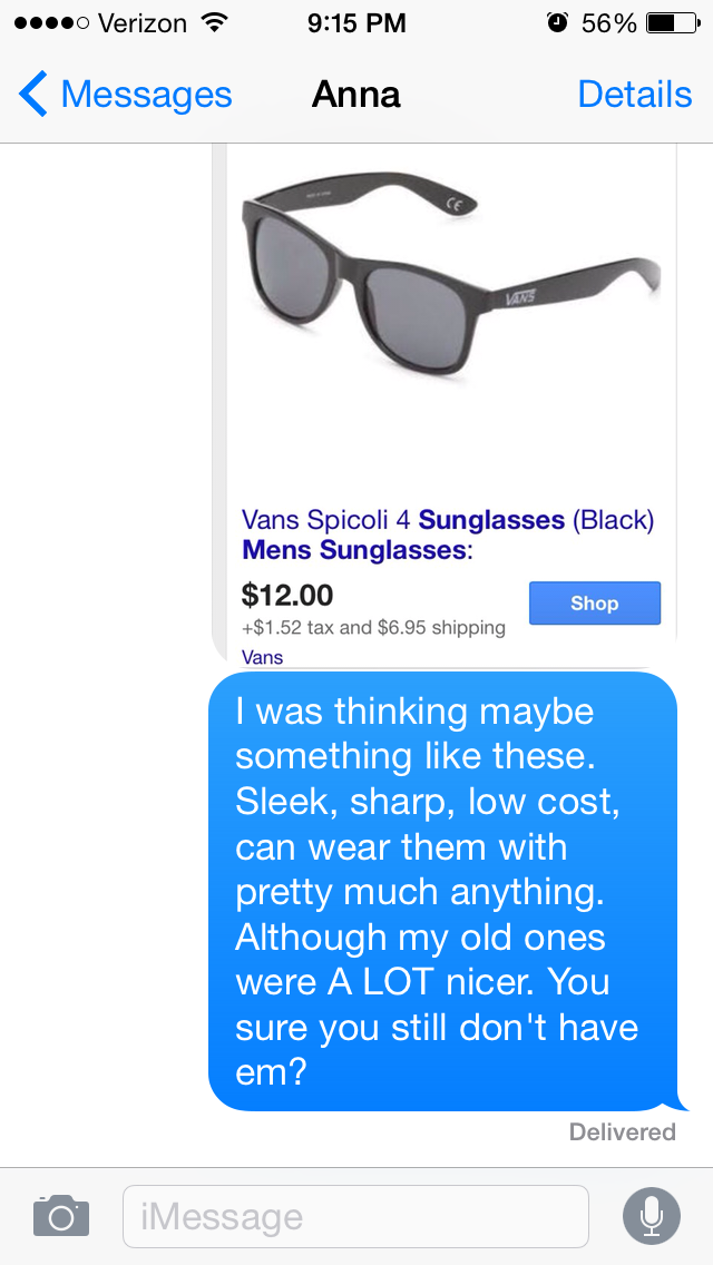 Guy spends 11 months texting girl who stole his sunglasses