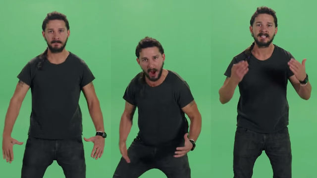 I like this Shia LaBeouf motivational video, and I don't know who I am anymore.