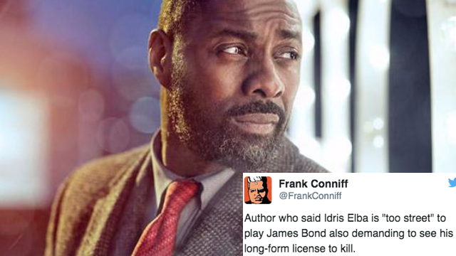"The 15 best Twitter reactions to James Bond writer deeming Idris Elba too ""street"" for 007."