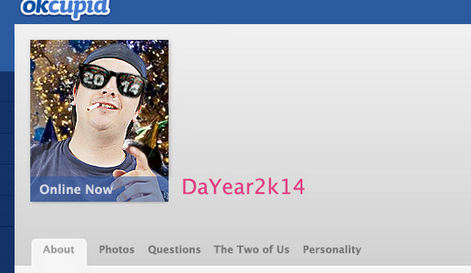 If the year 2014 had an online dating profile.