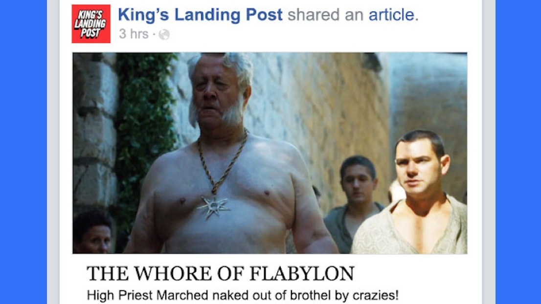 If Game of Thrones took place entirely on Facebook — Season 5, Episode 3.