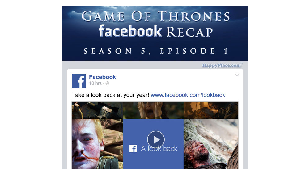 If Game of Thrones took place entirely on Facebook - The Season 5 Premiere.