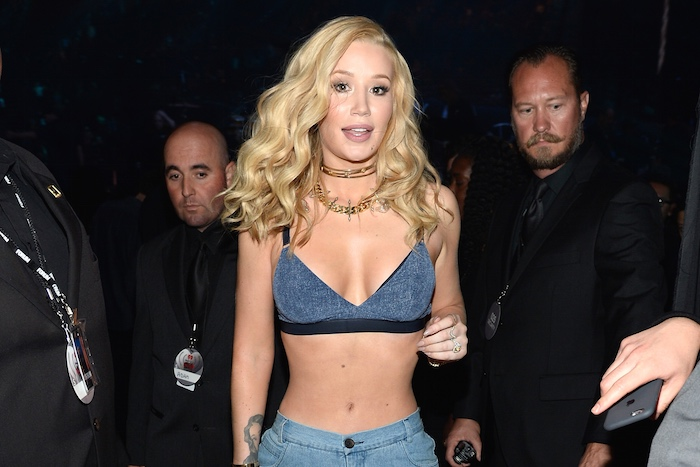 Iggy Azalea after the IRS repossessed her shirt.