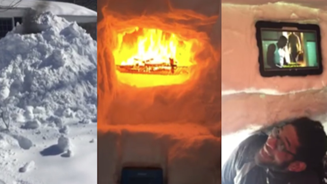 This family won the blizzard by building a luxury igloo that's nicer than your apartment.