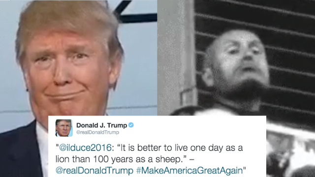 A fascist-quoting Twitter bot was created just to see if Trump would retweet it. He did.
