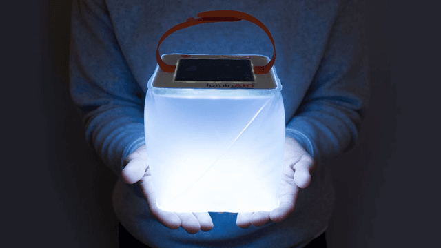 Illuminate your camping trail with this solar-powered lantern.