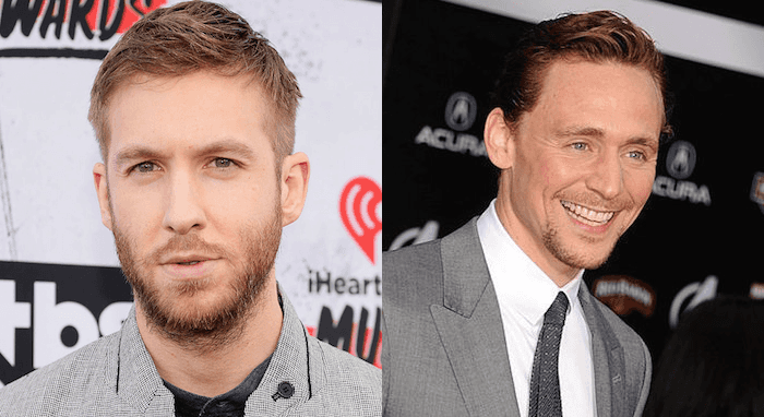 Calvin Harris (left) and Tom Hiddleston (right)