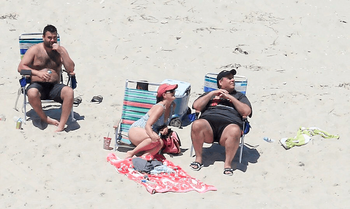 Chris Christie (right), his wife and son (left). And no one else.